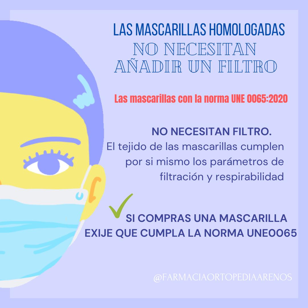 EXIGE LA NORMA UNE 0065:2020 EN TU MASCARILLA HIGIÉNICA